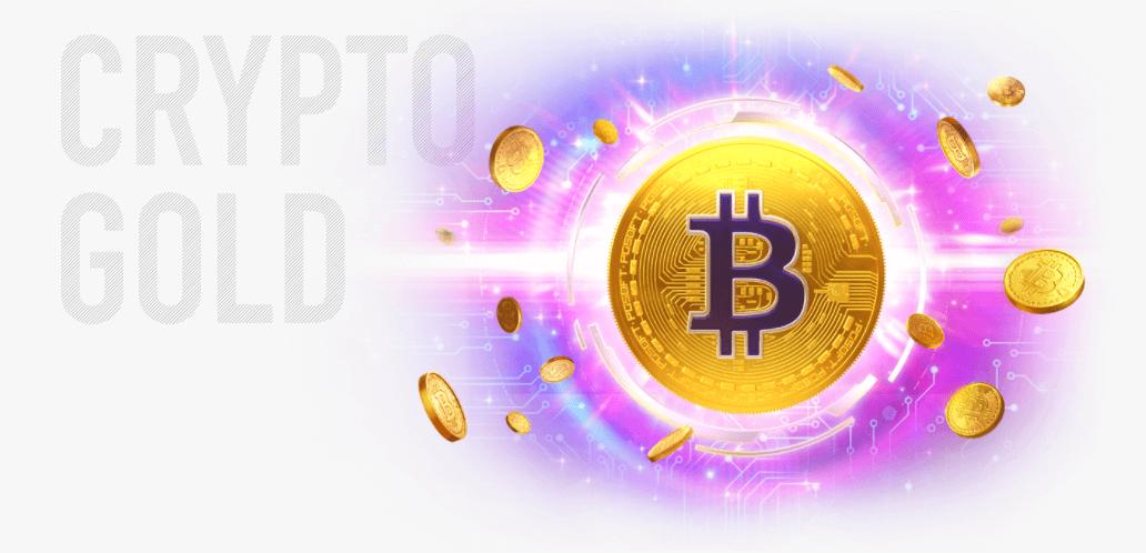 crypto gold online slot logo